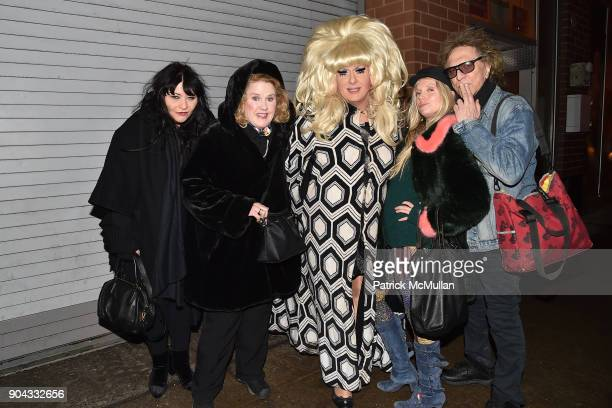 Liz Vap Celia Weston Lady Bunny Theodora Richards and Mick Rock attend The Cinema Society Bluemercury host the premiere of IFC Films' 'Freak Show' at...