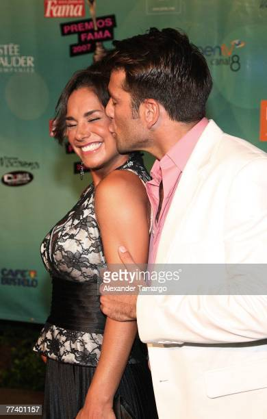 Liz Vega and Federico Diaz arrive at the Fama Awards on October 17 2007 in Miami Beach Florida