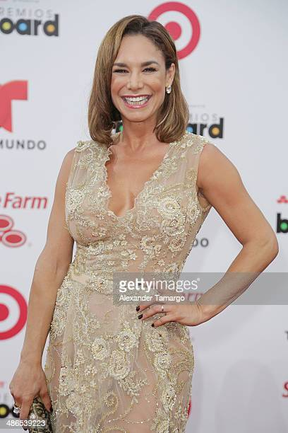 Liz Vega arrives at the 2014 Billboard Latin Music Awards at Bank United Center on April 24 2014 in Miami Florida
