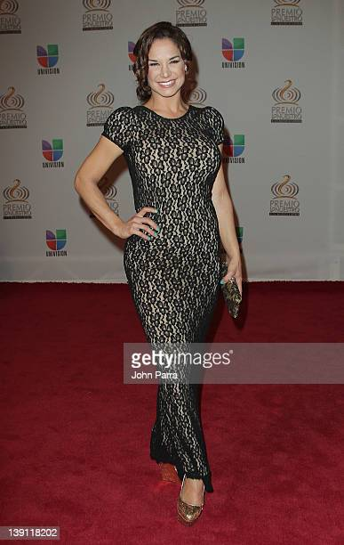 Liz Vega arrives at the Premio Lo Nuestro a La Musica Latina at American Airlines Arena on February 16 2012 in Miami Florida
