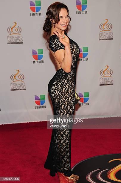 Liz Vega arrives at the Premio Lo Nuestro a La Musica Latina at American Airlines Arena on February 16 2012 in Miami Florida