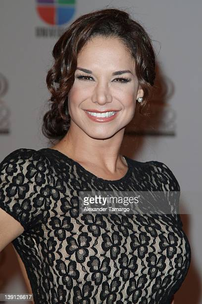 Liz Vega arrives at Univision's Premio Lo Nuestro a La Musica Latina at American Airlines Arena on February 16 2012 in Miami Florida