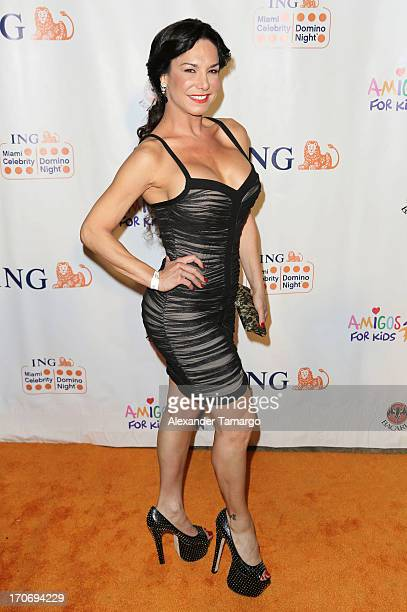 Liz Vega attends ING Celebrity Domino Night to benefit Amigos For Kids at Jungle Island on June 15 2013 in Miami Florida