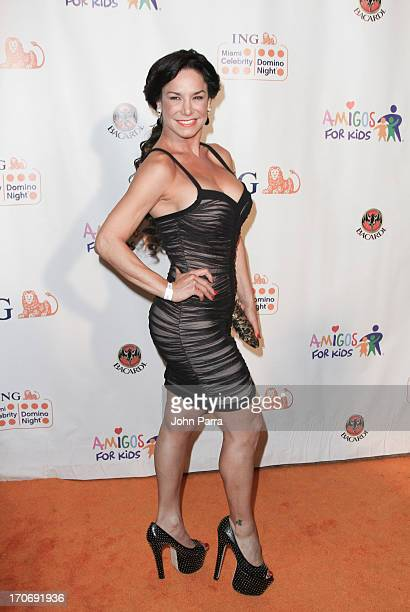 Liz Vega attends the ING Celebrity Domino Night to Benefit Amigos For Kids at Jungle Island on June 15 2013 in Miami Florida