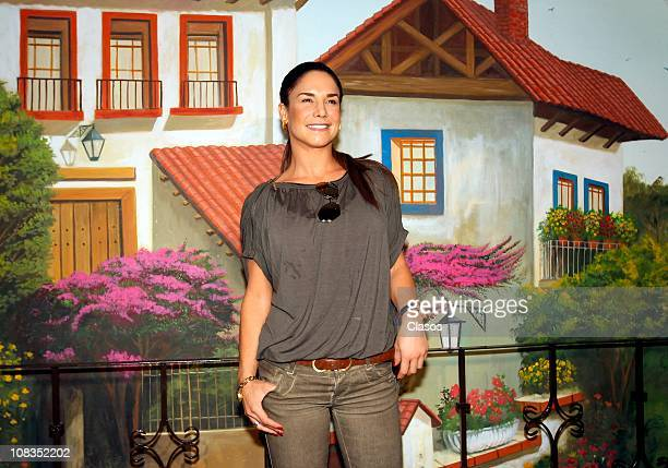Liz Vega attends the Merida Carnival press conference on January 25 2011 in Mexico City Mexico