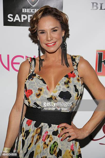 Liz Vega is seen at the Venue Magazine March/April cover party at Adore Nightclub on April 12 2014 in Miami Florida