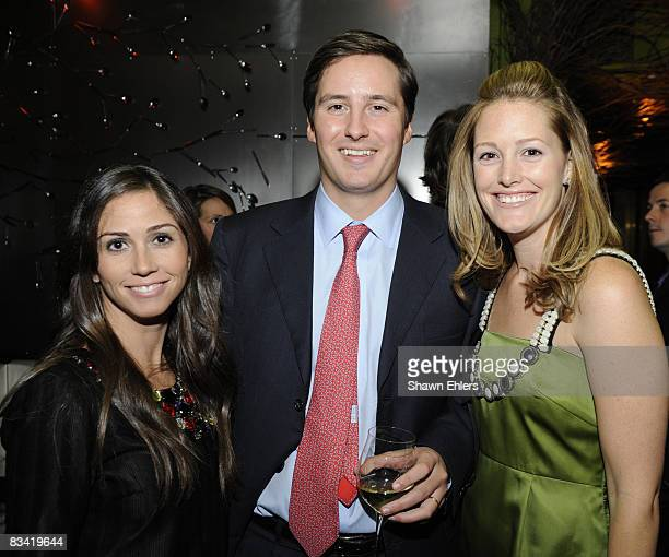 Liz Walker Jay Sullivan Sara GilbainSullivan attend the Preview Dinner At Bon Appetit Supper Club Hosted By Christie's Prepared By Chef John Besh and...