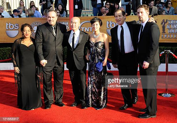 Liza ColonZayas actor David Zayas actor CS Lee actor James Remar and guests arrive to the TNT/TBS broadcast of the 16th Annual Screen Actors Guild...