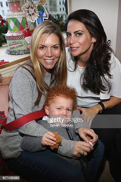 Liza Deangelis Leo Capraro and Lyss Stern attend If You Give a Mouse a Maltese Cross Holiday Party at Verdura Showroom on December 3 2016 in New York...