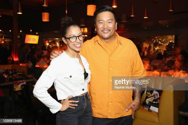 Guests attend The Flamin' Hot Spot Cheetos' new limitedtime restaurant with a menu inspired by chef Roy Choi at Madera Kitchen on September 18 2018...