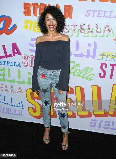 Liza Koshy arrives at the Stella McCartney's Autumn 2018 Collection Launch on January 16 2018 in Los Angeles California