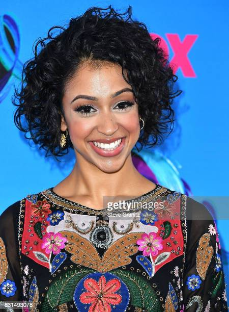 Liza Koshy arrives at the Teen Choice Awards 2017 at Galen Center on August 13 2017 in Los Angeles California