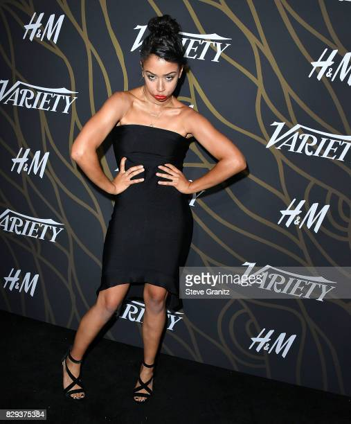 Liza Koshy arrives at the Variety Power Of Young Hollywood at TAO Hollywood on August 8 2017 in Los Angeles California