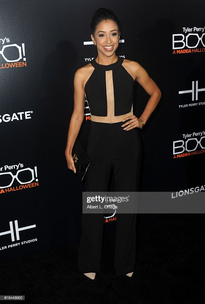 liza koshy arrives for the premiere of lionsgate s boo a madea