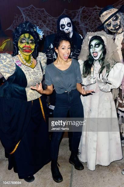 Liza Koshy attends Knott's Scary Farm at Knott's Berry Farm on September 28 2018 in Buena Park California
