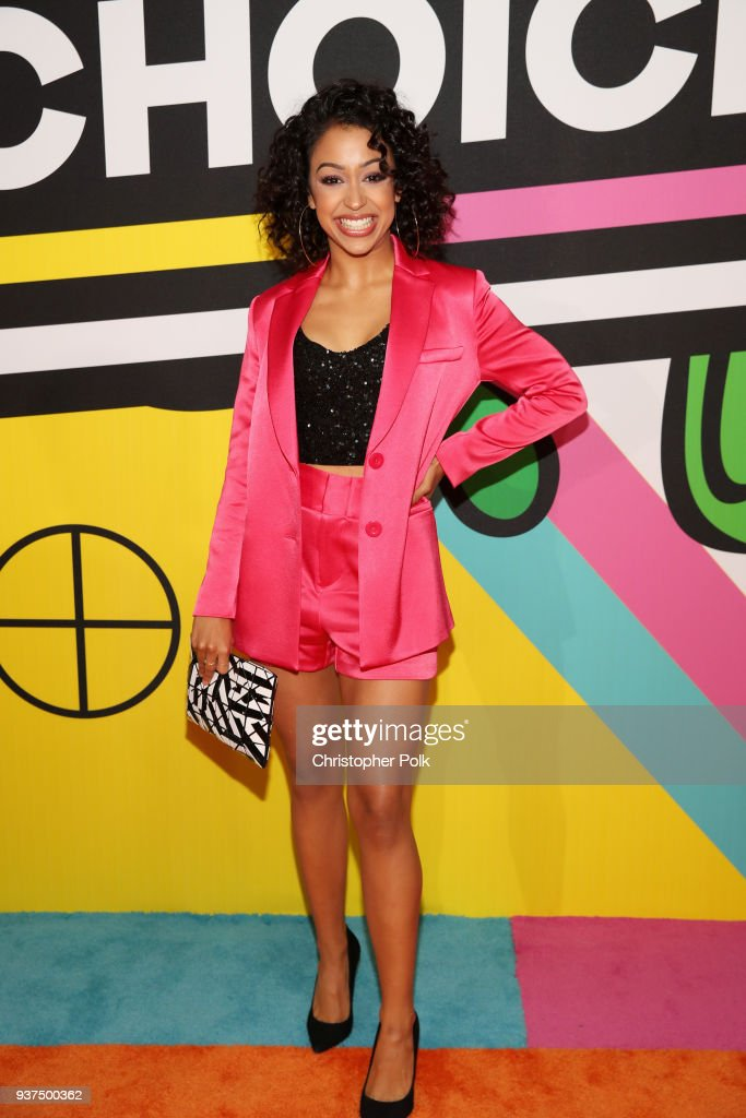 Liza Koshy attends Nickelodeon's 2018 Kids' Choice Awards at The Forum on March 24, 2018 in Inglewood, California.