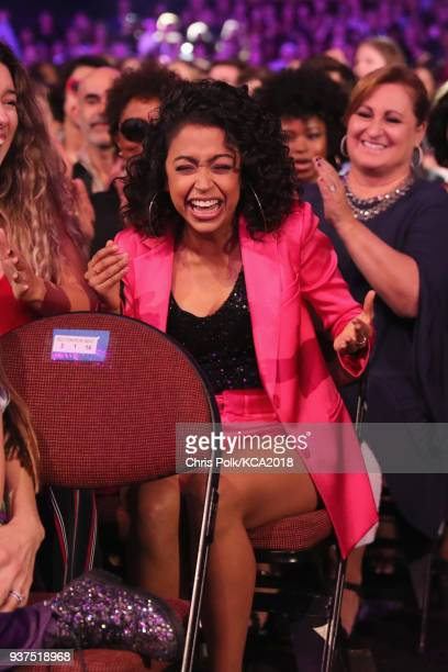 Liza Koshy attends Nickelodeon's 2018 Kids' Choice Awards at The Forum on March 24 2018 in Inglewood California
