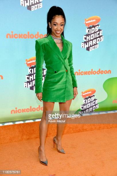 Liza Koshy attends Nickelodeon's 2019 Kids' Choice Awards at Galen Center on March 23 2019 in Los Angeles California