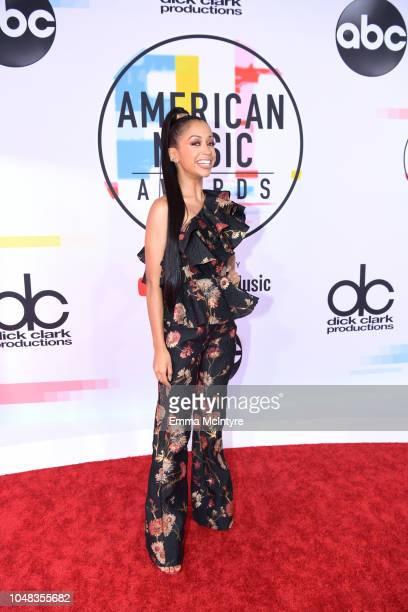 Liza Koshy attends the 2018 American Music Awards at Microsoft Theater on October 9 2018 in Los Angeles California