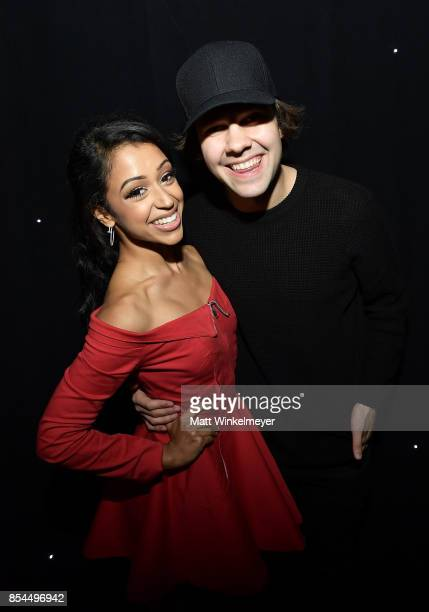 Liza Koshy David Dobrik at the 2017 Streamy Awards at The Beverly Hilton Hotel on September 26 2017 in Beverly Hills California