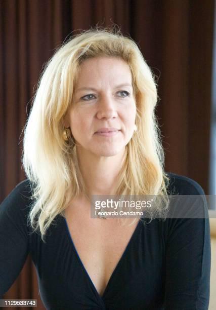 Liza Marklund, Swedish journalist and crime writer, portrait, Milan, Italy, 6th December 2008.