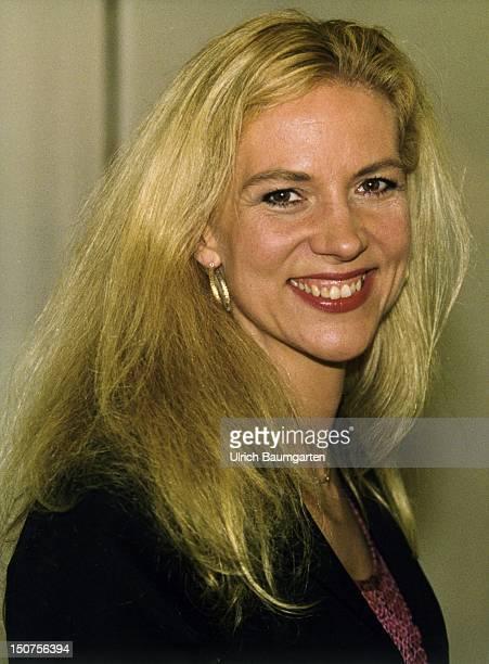 Liza MARKLUND, Swedish writer, at the book fair in Frankfurt.