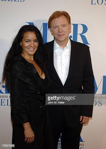 Liza Marquez and David Caruso attend The Museum Of Television Radio's Gala Honoring Leslie Moonves and Jerry Bruckheimer at it Anual Los Angels Gala...