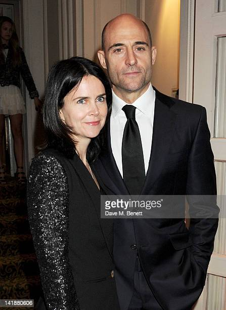 Liza Marshall and Mark Strong arrive at the Jameson Empire Awards at Grosvenor House on March 25 2012 in London England