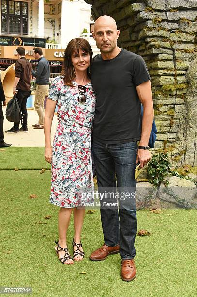 Liza Marshall and Mark Strong attend the UK Premiere of 'The BFG' at Odeon Leicester Square on July 17 2016 in London England