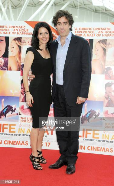 Liza Marshall and Stephen Mangan attend the UK Premiere of 'Life in a Day' at Vue Westfield on June 14 2011 in London England