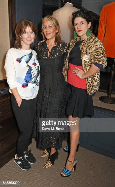 Liza Marshall Azzi Glasser and Diana Gomez attend the launch of the 'Kingsman' shop on St James's Street in partnership with MR PORTER MARV Twentieth...