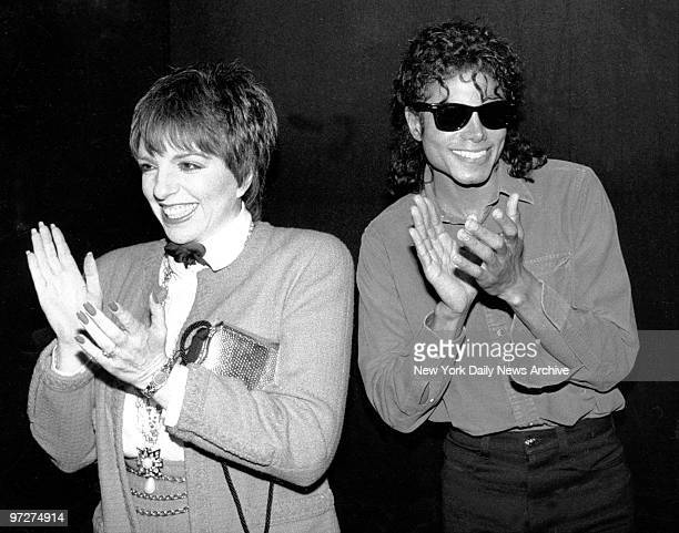 Liza Minelli and Michael Jackson took in the Broadway hit The Phantom of the Opera and were so enthusiastic they stolled backstage at the Majestic...