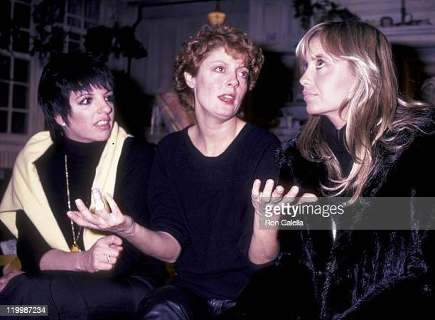 Liza Minnelli actress Susan Sarandon and Susan George attend the premiere of Pretty Baby on October 2 1979 in New York City