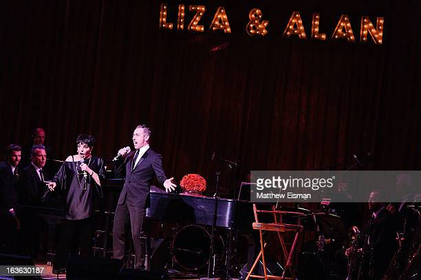Liza Minnelli and Alan Cumming perform at Town Hall on March 13 2013 in New York City
