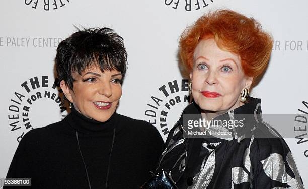 Liza Minnelli and Arlene Dahl attend the New York premiere of 'Lizas At The Palace' at The Paley Center for Media on November 24 2009 in New York City