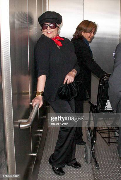 Liza Minnelli and Cortes Alexander seen at LAX on June 09 2015 in Los Angeles California