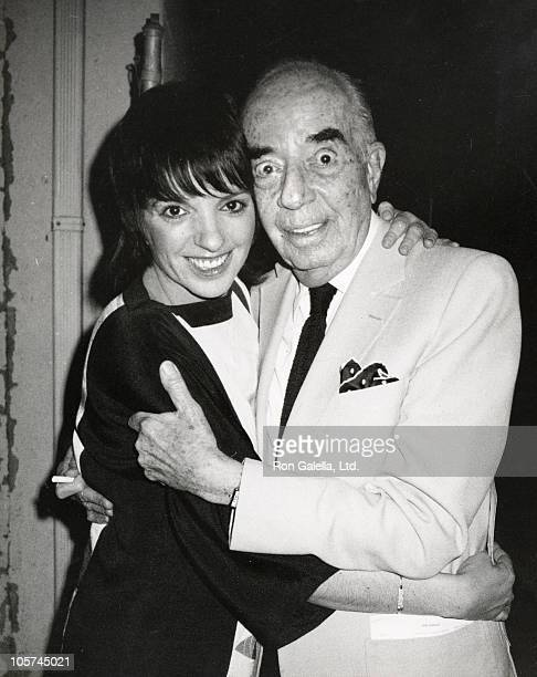 Liza Minnelli and father Vincente Minnelli during Charles Aznavour Concert April 22 1983 at Beverly Wilshire Theater in Los Angeles California United...