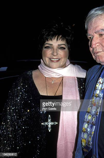 Liza Minnelli and Fred Ebb during 14th Annual MAC Awards at Town Hall in New York City New York United States