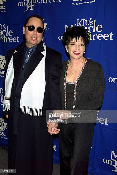 """Liza Minnelli and husband David Gest backstage during """"KTU's Miracle on 34th Street"""" hoilday concert at Madison Square Garden in New York City...."""