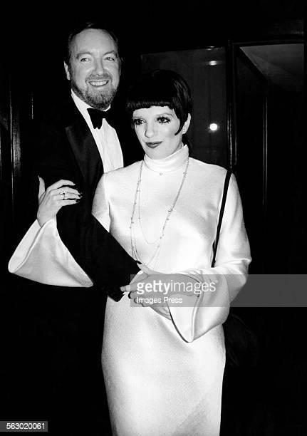 Liza Minnelli and husband Jack Haley Jr. Celebrate their First Anniversary circa 1975 in New York City.