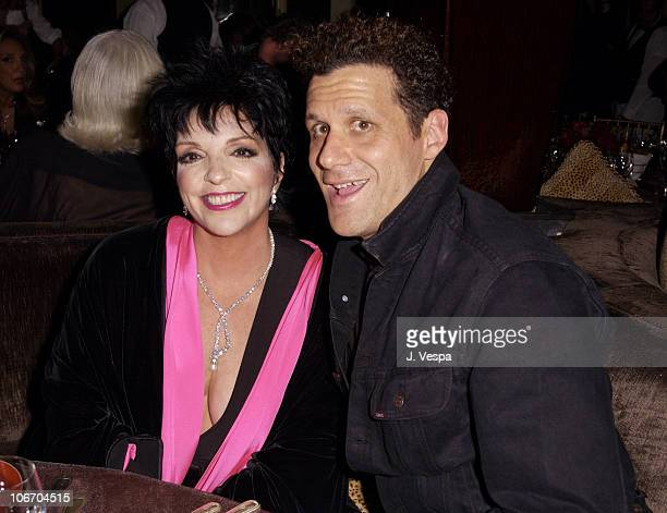 Liza Minnelli and Izaac Mizrahi during Liza Minnelli Celebrates Launch of LZA for MAC Makeup Collection in New York City at The Carlyle Hotel in New...