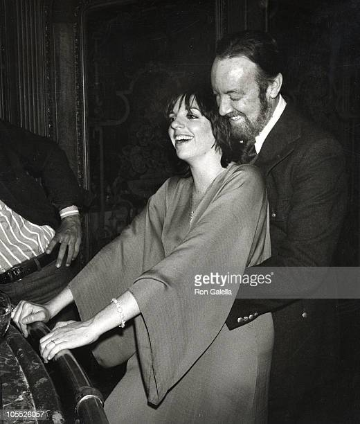 Liza Minnelli and Jack Haley Jr during ReWedding of Sammy Davis Jr and Altovise Davis at Bistro Restaurant in Beverly Hills California United States