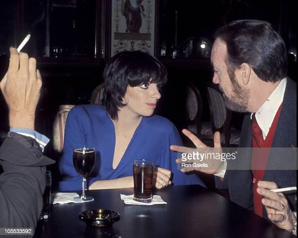 Liza Minnelli and Jack Hayley Jr during ReWedding of Sammy Davis Jr and Altovise Davis at Bistro Restaurant in Beverly Hills California United States