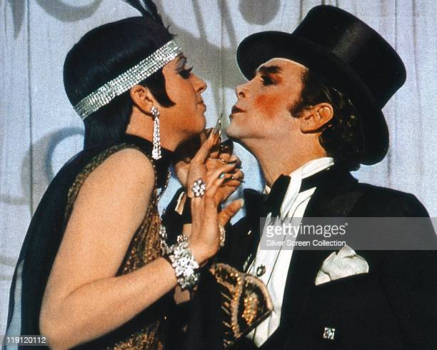 Liza Minnelli and Joel Grey in a publicity still issued for the film 'Cabaret' 1972 The film musical directed by Bob Fosse starred Minnelli as 'Sally...