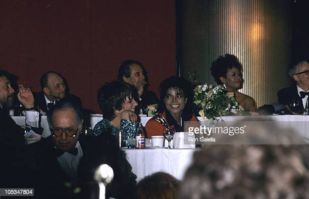 Liza Minnelli and Michael Jackson during 44th Annual United Negro College Fund Awards at Sheraton Centre in New York City New York United States