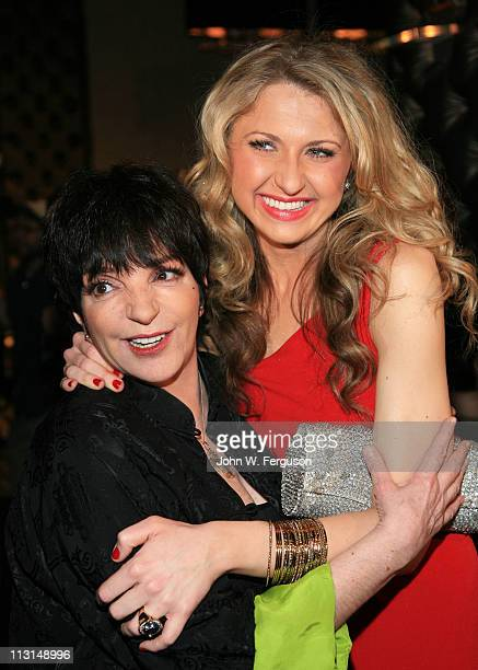 Liza Minnelli and Nina Arianda attend the after party for the Born Yesterday Broadway opening night>> at The Edison Ballroom on April 24 2011 in New...