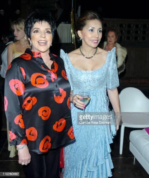 Liza Minnelli and Paola Isabella Rocha Tornito during 2005 Princess Grace Awards at Ciprianis at 42nd St in New York City New York United States