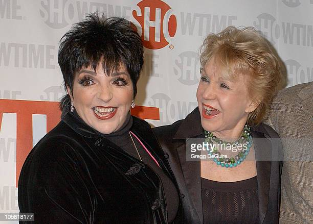 Liza Minnelli and Patricia McCallum during Showtime Presents Liza With A 'Z' Arrivals at MGM Screening Room in Century City California United States