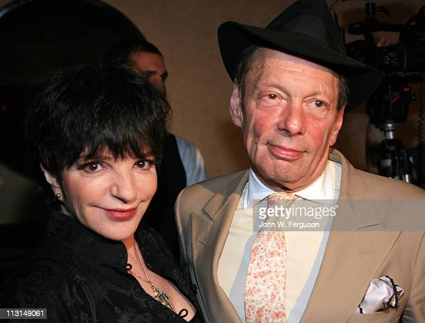 Liza Minnelli and Rock Brynner attendthe after party for the Born Yesterday Broadway opening night at The Edison Ballroom on April 24 2011 in New...