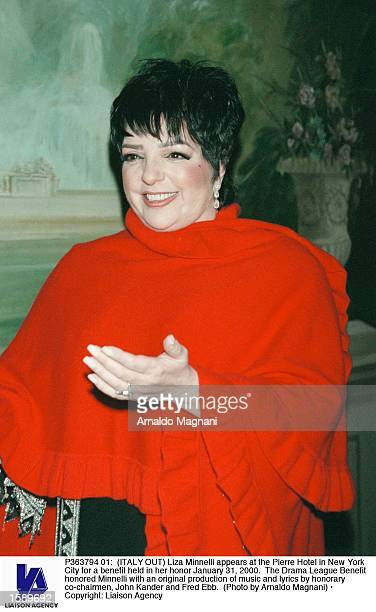 Liza Minnelli appears at the Pierre Hotel in New York City for a benefit held in her honor January 31 2000 The Drama League Benefit honored Minnelli...